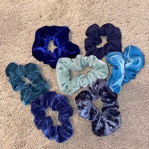 🍄Scrunchie Set of 8 in Blue